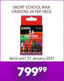 SHORT SCHOOL WAX CRAYONS 24 PER PACK, 799,99