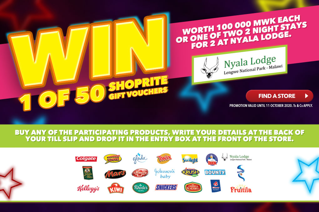 WIN ONE OF 50 SHOPRITE GIFT VOUCHERS