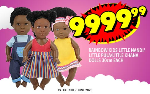 RAINBOW KIDS LITTLE NANDI/LITTLE PULA/LITTLE KHANA DOLLS 30cm EACH, 9999,99