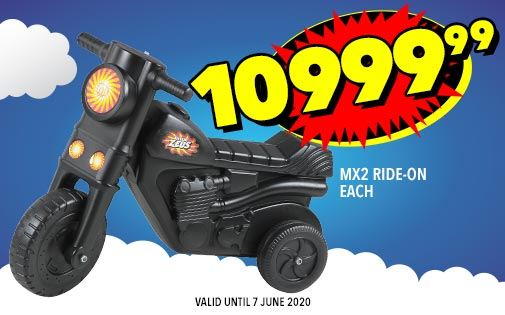 MX2 RIDE-ON EACH, 10999,99