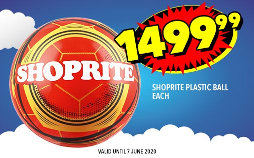 SHOPRITE PLASTIC BALL EACH, 1499,99