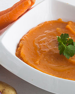 BUTTERNUT AND COURGETTE PUREE